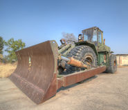 Construction machinery. The military use of construction machinery Royalty Free Stock Image