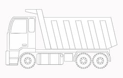 Construction machinery. Truck. Coloring pages for children. Vector illustrations Stock Images