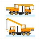 Construction machinery vector illustration on white background Royalty Free Illustration