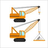 Construction machinery vector illustration on white background Vector Illustration