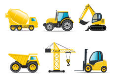 Construction machines. Set of 6 construction machines Stock Image
