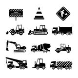 Construction Machines Black Royalty Free Stock Photography