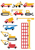 Construction machines and equipment royalty free stock photo