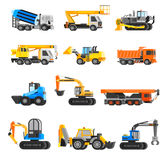 Construction Machines Icons Set Royalty Free Stock Photography