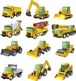 Construction machines. Set of a  construction machines Stock Photo