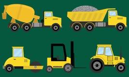 Construction machines stock illustration