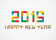 2015 construction. 2015 made from alphabet puzzle - vector illustration Stock Photos