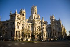 Construction Madrid Espagne de Correos Photo libre de droits