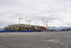Construction of the main stadium in the Olympic Pa Stock Images