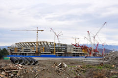Construction of the main stadium in the Olympic Pa Royalty Free Stock Photography