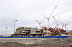Construction of the main stadium in the Olympic Pa Royalty Free Stock Image
