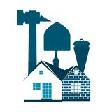 Construction industry symbol. Construction and maintenance of housing industry symbol Stock Photo