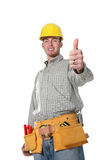 Construction Man (Focus on thumb) Stock Images
