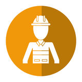 Construction man helmet uniform shadow Stock Photo