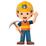 Construction man holding axe Stock Image