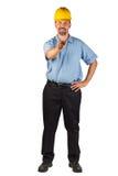 Construction Man Pointing at Camera Royalty Free Stock Images