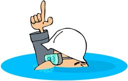 Construction Man Under Water Stock Photography