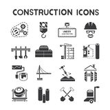 Construction management icons Royalty Free Stock Photos