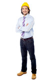 Construction manager with arms folded Royalty Free Stock Photography