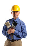Construction Manager Holding Paintbrushes Royalty Free Stock Photo
