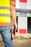 Construction manager holding project Royalty Free Stock Photography