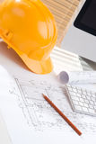 Construction manager office Stock Image