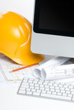 Construction manager office Royalty Free Stock Photo
