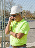 Construction Manager on Phone Stock Photos