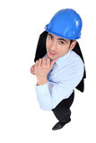 Construction manager thinking Royalty Free Stock Photo
