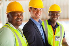 Construction manager workers Stock Images