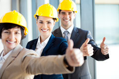 Construction managers thumbs up Royalty Free Stock Photography