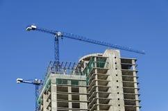Construction of many storeyed building Royalty Free Stock Photo