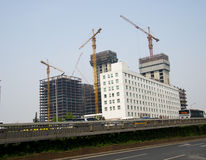 In the construction of many-storied buildings Stock Photography