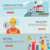 Construction mapping, flat design element Stock Photography