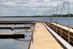 Construction of a marina Royalty Free Stock Images