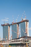 Construction of Marina Bay Sands Stock Images