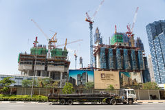 Construction of the Marina One Project in Singapore Stock Photo