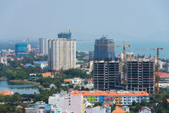 Construction in maritime Vungtau, Vietnam Royalty Free Stock Photo