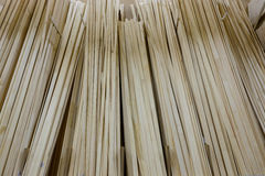 Construction market. wooden building materials. On the shelves Royalty Free Stock Photography