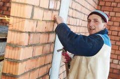 Construction mason worker royalty free stock photos