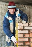 Construction mason worker Stock Images