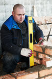 Construction mason worker Royalty Free Stock Photos