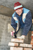 Construction mason worker Stock Photo