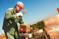 Construction mason worker bricklayer Stock Photo