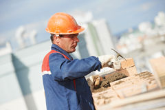 Construction mason worker bricklayer Royalty Free Stock Photography