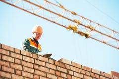 Construction mason worker bricklayer Stock Photos