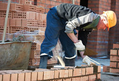 Construction mason worker bricklayer Royalty Free Stock Image