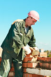 Construction mason worker bricklayer Royalty Free Stock Photo