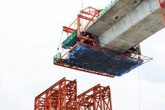Construction of a mass transit skytrain line Stock Photos