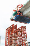 Construction of a mass transit skytrain line Royalty Free Stock Photography